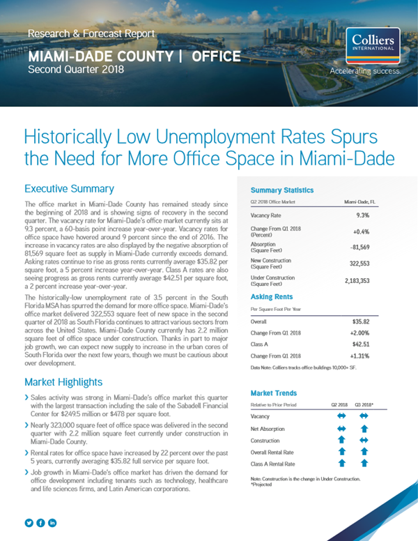 South FL Office Market Report - 2Q18 - thumbnail