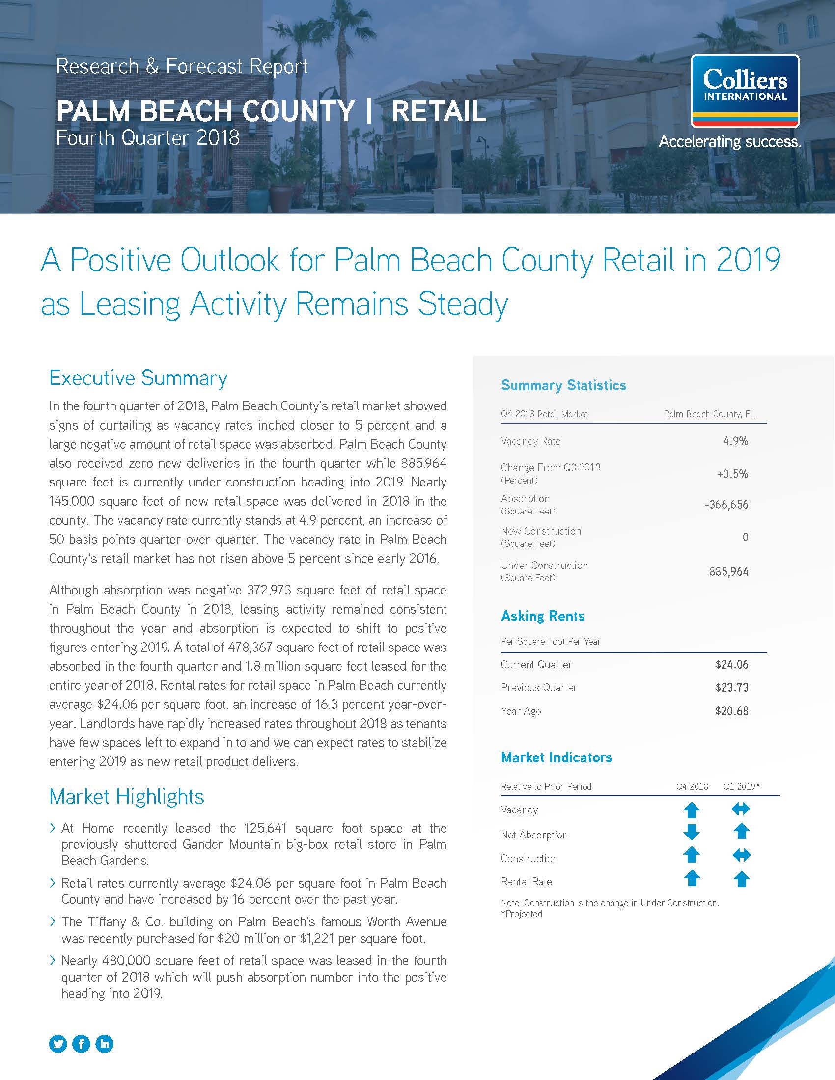 Palm Beach Retail Market Report - 4Q18